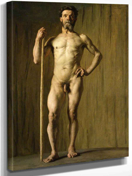 Academic Study Of A Male Nude By Pascal Dagnan Bouveret