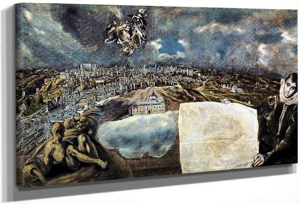 View And Plan Of Toledo By El Greco By El Greco