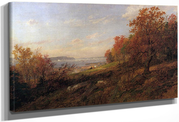 View From Hastings Toward The Tappan Zee By Jasper Francis Cropsey By Jasper Francis Cropsey
