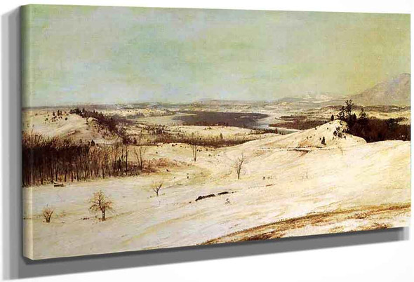 View From Olana In The Snow By Frederic Edwin Church By Frederic Edwin Church