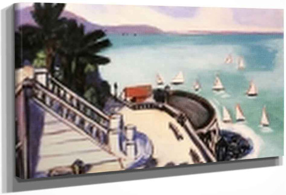 View From The Terrace In Monte Carlo By Max Beckmann By Max Beckmann