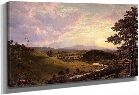 View Near Stockbridge, Mass. By Frederic Edwin Church By Frederic Edwin Church