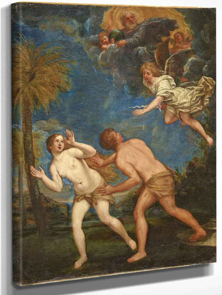 Adam And Eve Expelled From Paradise By Francesco Albani By Francesco Albani