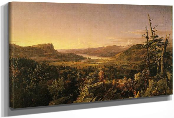 View Of Greenwood Lake, New Jersey By Jasper Francis Cropsey By Jasper Francis Cropsey