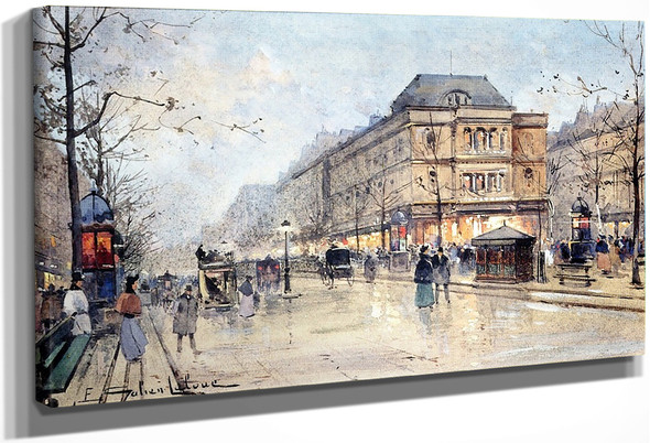 View Of The Grands Boulevards By Eugene Galien Laloue