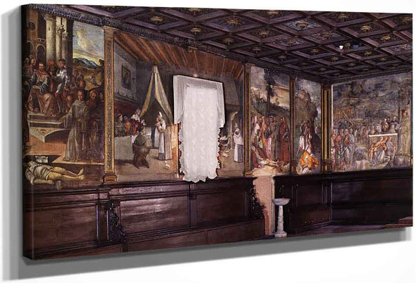 View Of The Sala Capitolare By Titian