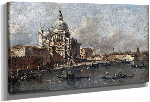 View Of The Salute, Venice By Francesco Guardi