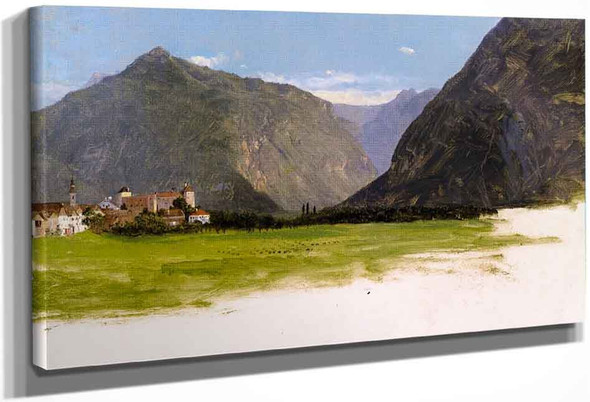 View Of Wimmis, Valley Of The Simmental, Switzerland By Frederic Edwin Church By Frederic Edwin Church