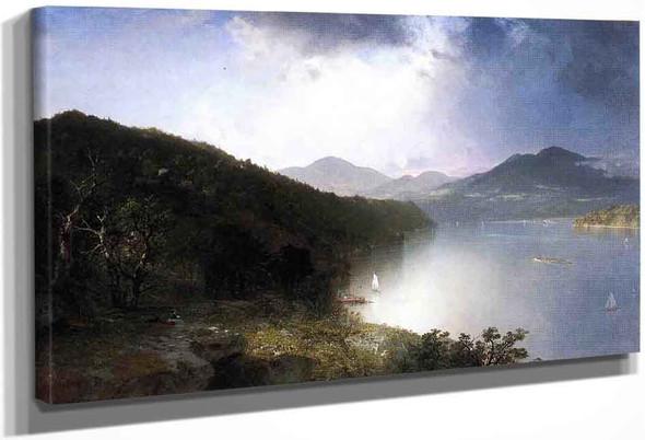 View On The Hudson By John Frederick Kensett By John Frederick Kensett