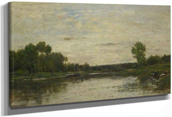 View On The Oise By Charles Francois Daubigny By Charles Francois Daubigny
