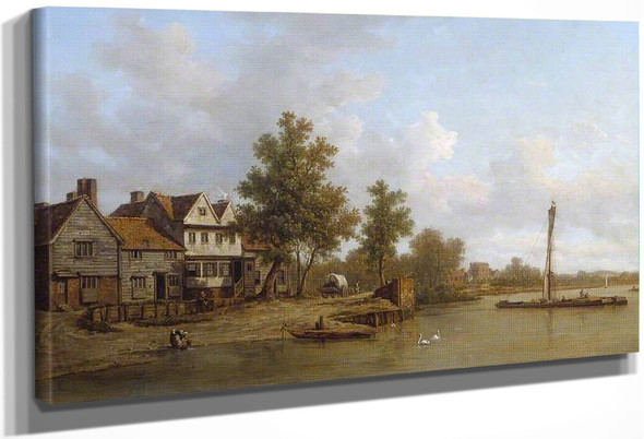 View On The Thames By William Marlow