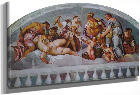 Villa Barbaro Vulcan And Venus By Paolo Veronese