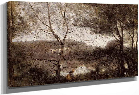 Ville Davray By Jean Baptiste Camille Corot