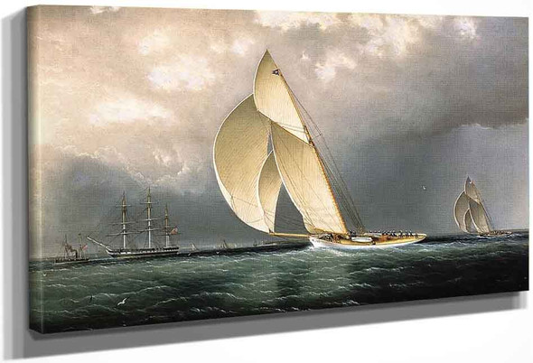 Volunteer Versus Thistle, Americas Cup, 1887 By James E. Buttersworth