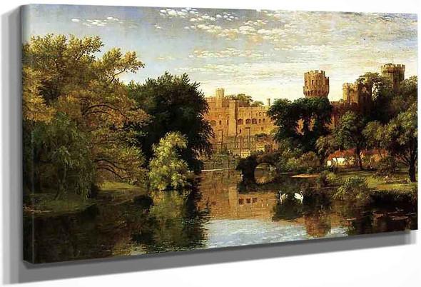 Warwick Castle, England By Jasper Francis Cropsey By Jasper Francis Cropsey