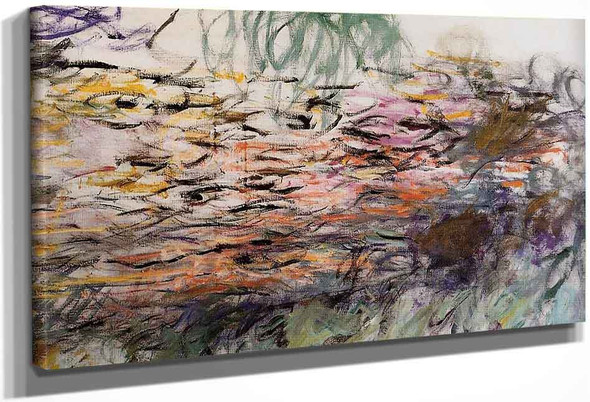 Water Lilies (Right Half) By Claude Oscar Monet(French, 1840 1926)