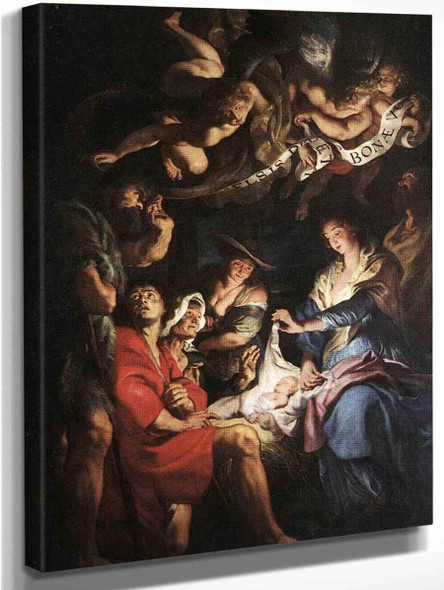 Adoration Of The Shepherds 6 By Peter Paul Rubens