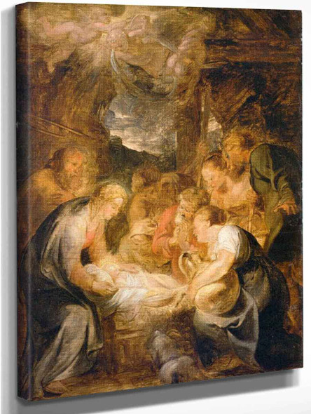 Adoration Of The Shepherds 7 By Peter Paul Rubens