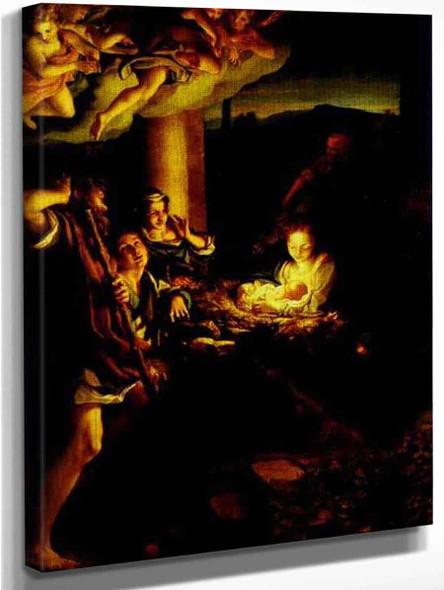 Adoration Of The Shepherds  By Correggio By Correggio