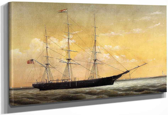 Whaleship 'Jireh Perry' Off Clark's Point, New Bedford By William Bradford By William Bradford
