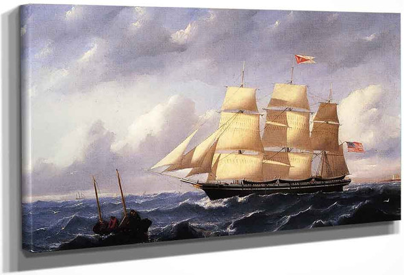 Whaleship 'Twilight' Of New Bedford By William Bradford By William Bradford