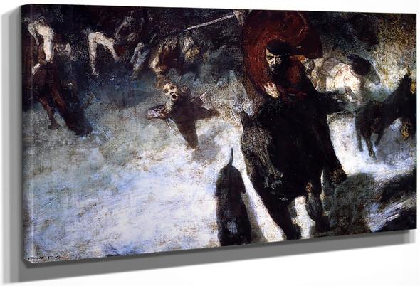 Wild Chase By Franz Von Stuck