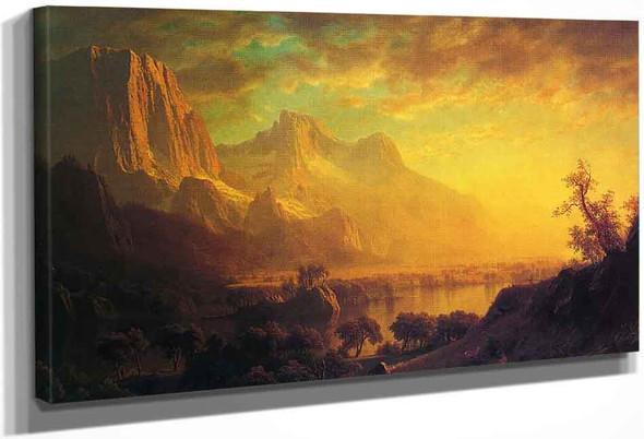 Wind River, Wyoming By Albert Bierstadt