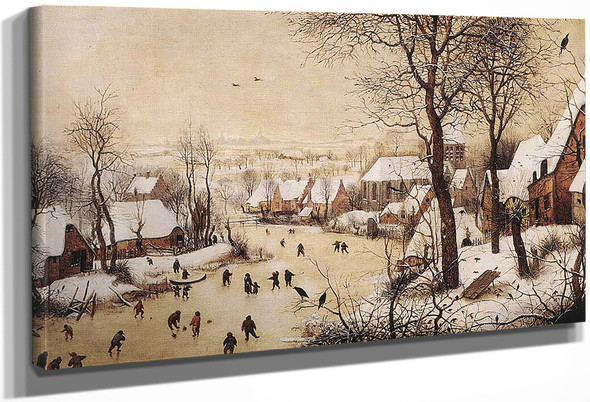 Winter Landscape With Skaters And Bird Trap By Pieter Bruegel The Elder By Pieter Bruegel The Elder