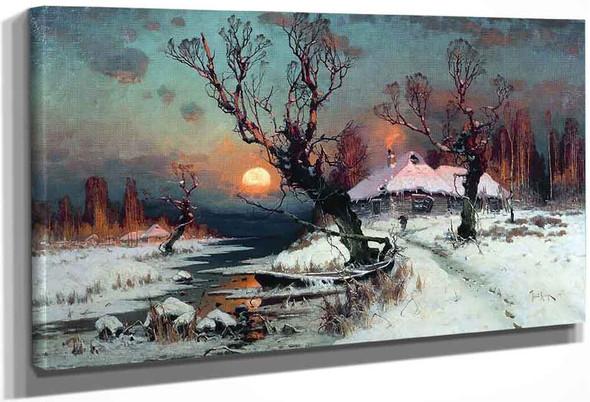 Winter Sunset By Julius Klever