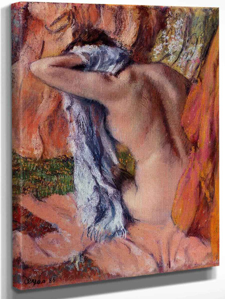 After The Bath14 By Edgar Degas