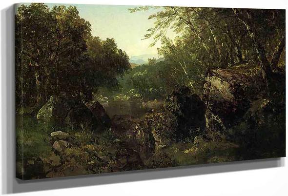 Woodland Pool By John Frederick Kensett By John Frederick Kensett