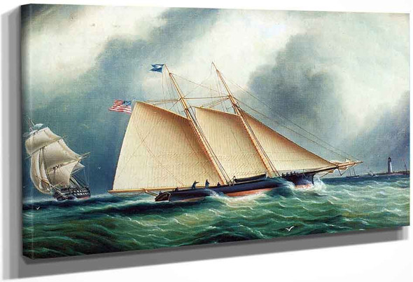 Yacht Dauntless In A Full Breeze By James E. Buttersworth