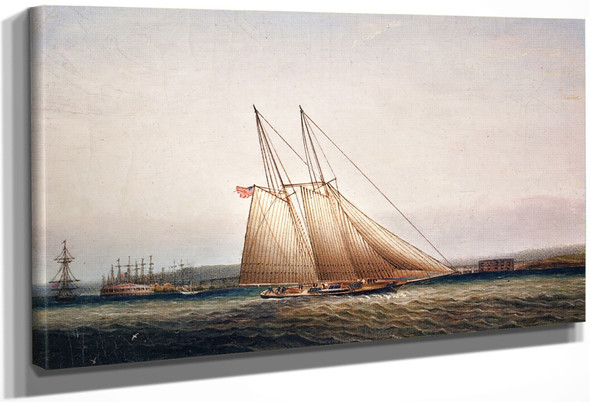 Yachting In New York Harbor1 By James E. Buttersworth