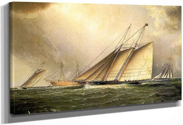 Yachts Rounding The Nore Light Ship In The English Channel By James E. Buttersworth