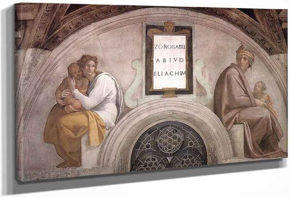 Zerubbabel Abiud Eliakim By Michelangelo Buonarroti By Michelangelo Buonarroti