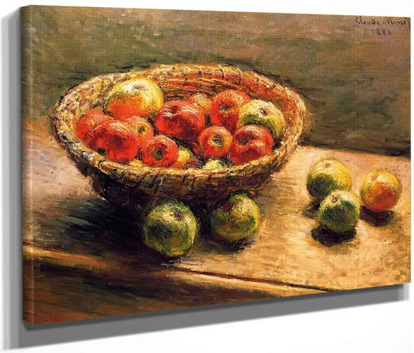 A Basket Of Apples By Claude Oscar Monet