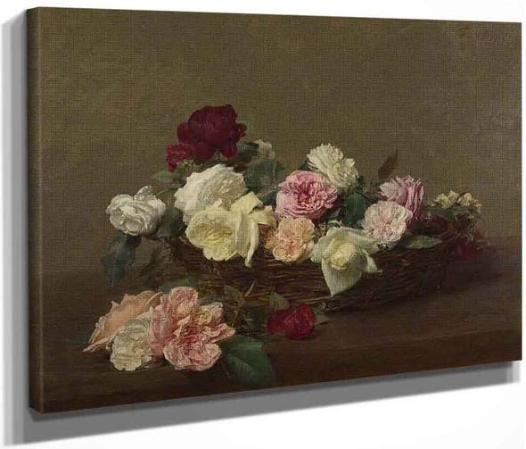A Basket Of Roses By Henri Fantin Latour By Henri Fantin Latour
