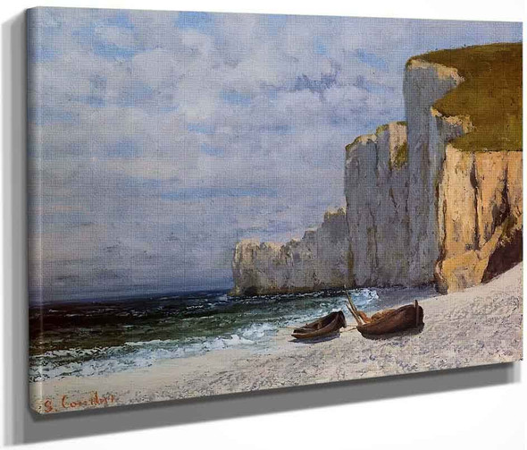 A Bay With Cliffs By Gustave Courbet By Gustave Courbet