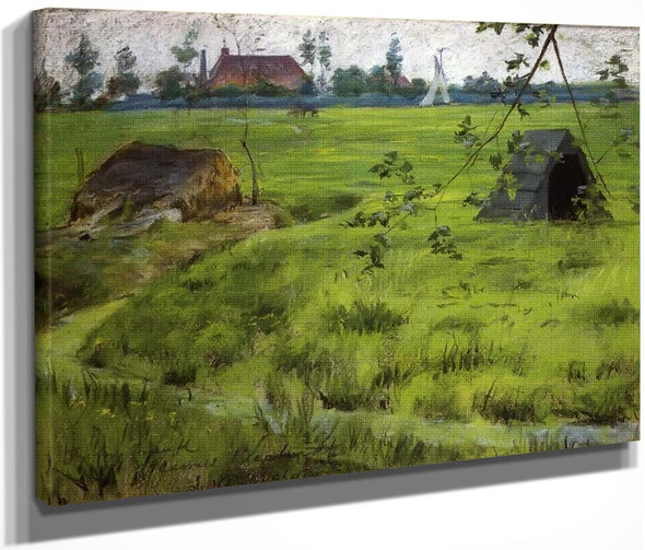 A Bit Of Holland Meadows By William Merritt Chase By William Merritt Chase