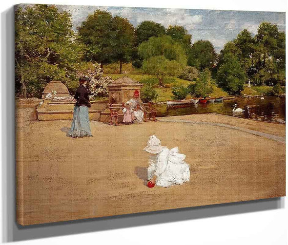 A Bit Of The Terrace By William Merritt Chase By William Merritt Chase