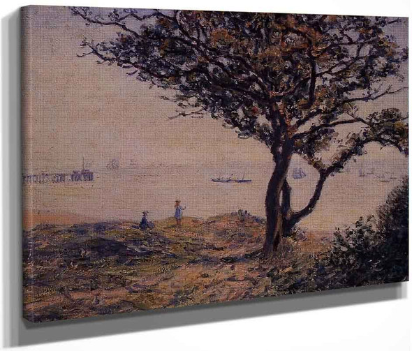 A Cardiff Shipping Lane By Alfred Sisley
