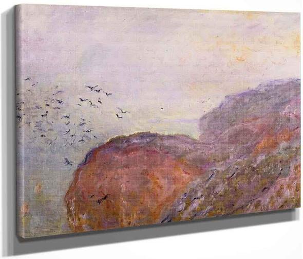A Cliff Near Dieppe By Claude Oscar Monet