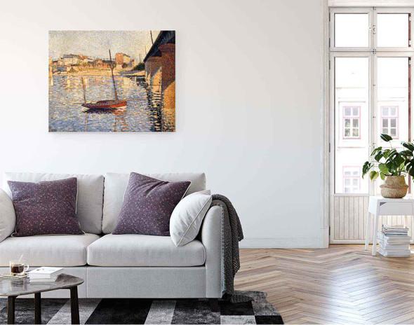A Clipper, Asnieres By Paul Signac