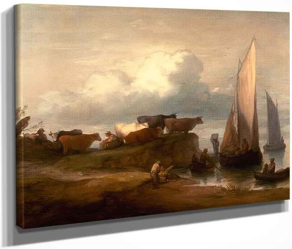 A Coastal Landscape By Thomas Gainsborough  By Thomas Gainsborough