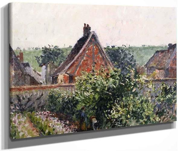 A Corner Of The Garden At Eragny By Camille Pissarro By Camille Pissarro