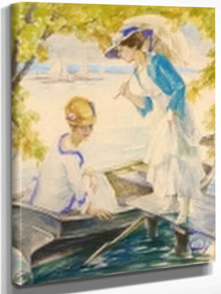 Afternoon On Lake Stanberger By Edward Cucuel By Edward Cucuel