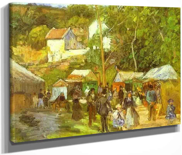 A Fair At L'hermitage Near Pontoise By Camille Pissarro By Camille Pissarro