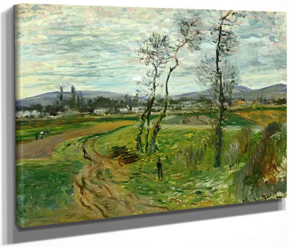 A Field At Gennevilliers By Claude Oscar Monet