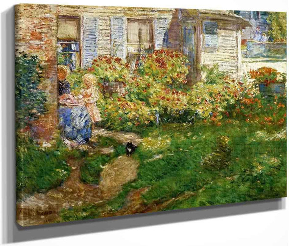 A Fisherman's Cottage By Frederick Childe Hassam  By Frederick Childe Hassam