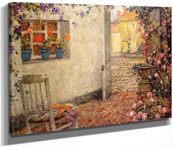 A Flowered Threshold By Henri Le Sidaner By Henri Le Sidaner